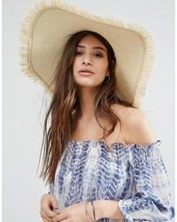 Sombrero de paja en beige de Glamorous
