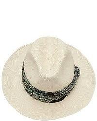 Sombrero de paja en beige de Lanvin
