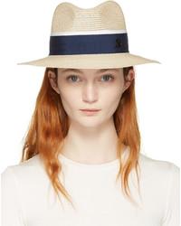Sombrero de paja en beige de Maison Michel
