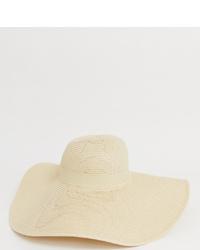 Sombrero de paja en beige de South Beach