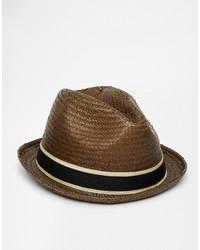 Sombrero de paja en marrón oscuro de Goorin Bros.