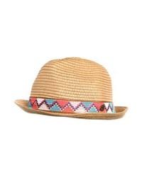 Sombrero de Paja Estampado Marrón Claro de Roxy