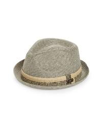 Sombrero de paja gris