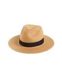 Sombrero de paja marrón claro