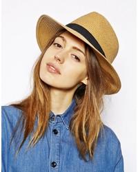 Sombrero de paja marrón claro de Barts