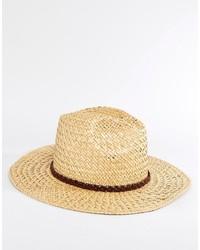Sombrero de paja marrón claro de Catarzi