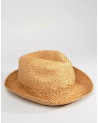 Sombrero de paja marrón claro de Esprit