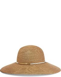 Sombrero de paja marrón claro de Eugenia Kim