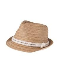 Sombrero de Paja Marrón Claro de Even&Odd