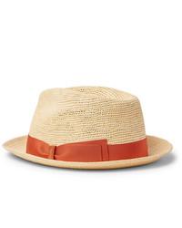 Sombrero de paja marrón claro de Borsalino