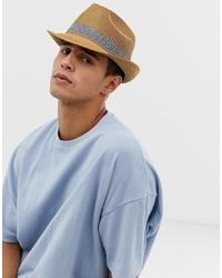 Sombrero de paja marrón claro de Ted Baker