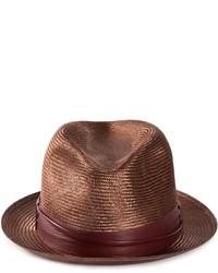 Sombrero de Paja Marrón Oscuro