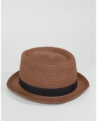 Sombrero de Paja Marrón de Asos