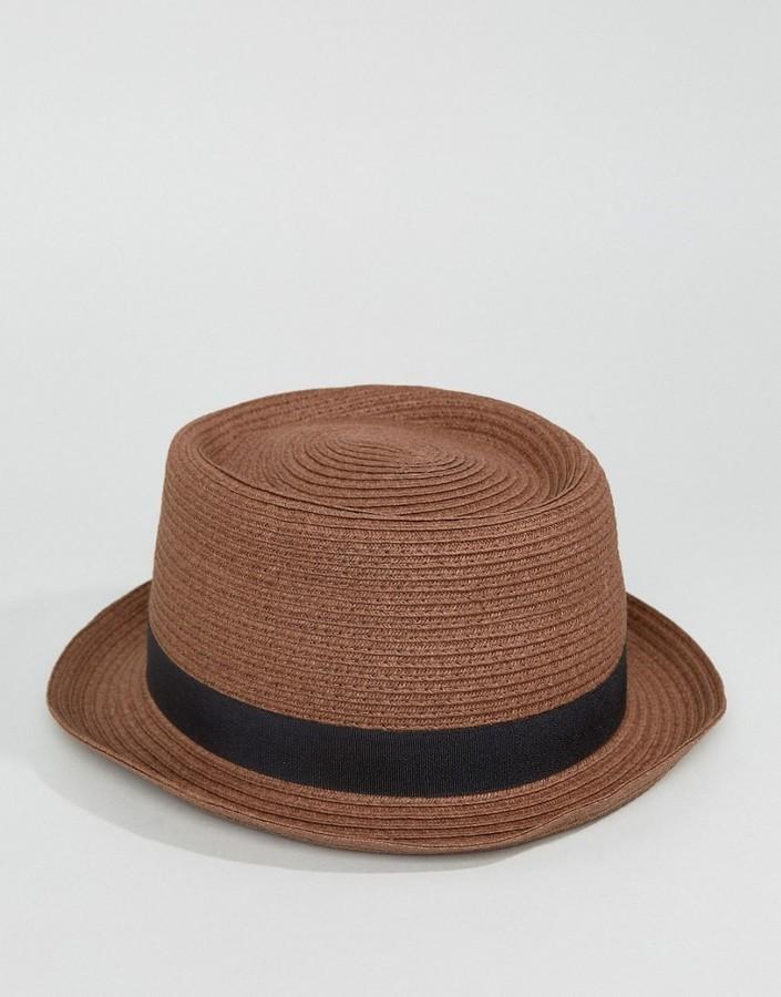 Sombrero de Paja Marrón de Asos  dónde comprar y cómo combinar 175d7de2c9b