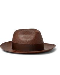 Sombrero de paja marrón de Borsalino