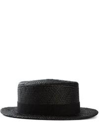 Sombrero de paja negro de Henrik Vibskov