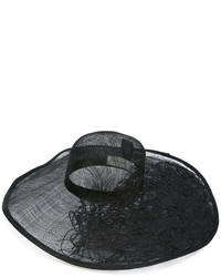 Sombrero de paja negro de Isabel Benenato