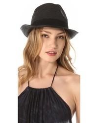Sombrero de paja negro de Melissa Odabash