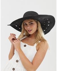 Sombrero de paja negro de Miss Selfridge
