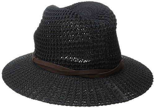 Sombrero de Paja Negro de San Diego Hat Company  dónde comprar y ... 175e1ef79d9
