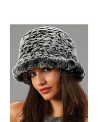 Sombrero de piel en gris oscuro