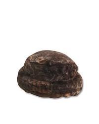 Sombrero de piel en marrón oscuro