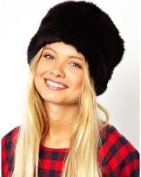 Sombrero de Piel Negro de Asos