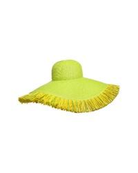 Sombrero en amarillo verdoso