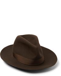 Sombrero en marrón oscuro de Borsalino
