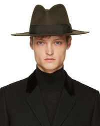 Sombrero en marrón oscuro de Saint Laurent