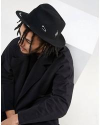 Sombrero estampado negro de Asos