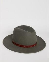 Sombrero Gris Oscuro de Asos