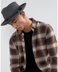 Sombrero Gris Oscuro de Brixton