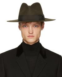 Sombrero Marrón Oscuro de Saint Laurent