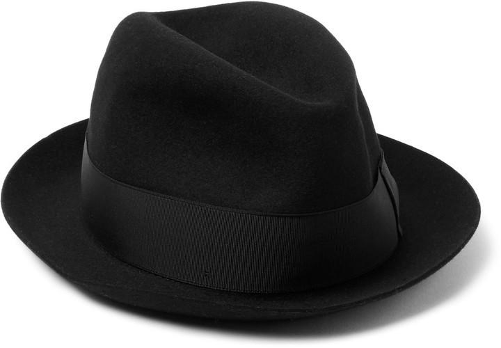 ... Sombrero negro de Borsalino ... ac214a9d94d