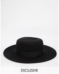 Sombrero negro de Reclaimed Vintage