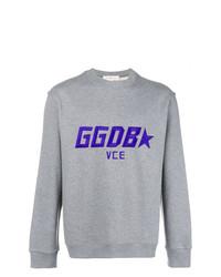 Sudadera bordada gris de Golden Goose Deluxe Brand