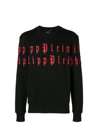 Sudadera bordada negra de Philipp Plein