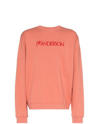 Sudadera bordada rosada de JW Anderson