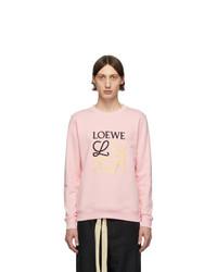 Sudadera bordada rosada de Loewe