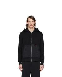 Sudadera con capucha acolchada negra de Moncler