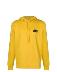 Sudadera con capucha amarilla de A.P.C.
