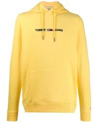 Sudadera con capucha amarilla de Tommy Jeans