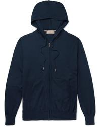 Sudadera con capucha azul marino de Canali