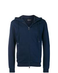Sudadera con capucha azul marino de Emporio Armani