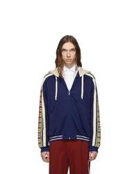 Sudadera con capucha azul marino de Gucci