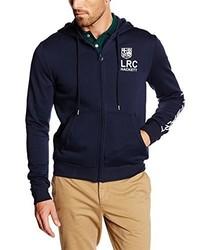 Sudadera con capucha azul marino de Hackett London