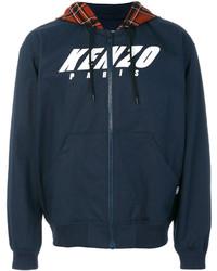 Sudadera con capucha azul marino de Kenzo