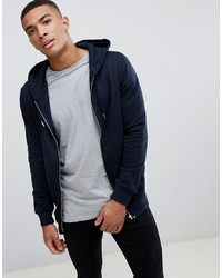 Sudadera con capucha azul marino de New Look