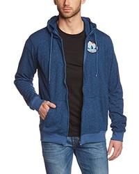 Sudadera con capucha azul de adidas